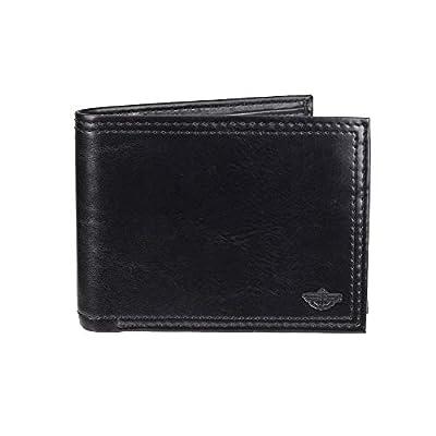 Dockers Men's RFID Security Blocking Traveler Wallet-black, One Size