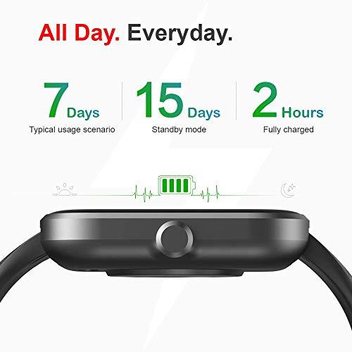 Reloj inteligente Virmee VT3 Fitness Tracker con monitor de ritmo cardíaco, medidor de oxígeno en sangre, seguimiento de paso del sueño, IP68 impermeable, para hombres y mujeres, compatible con teléfonos iPhone, Samsung y Android miniatura