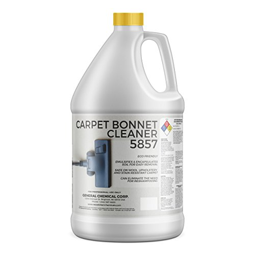 CarpetGeneral - Carpet Bonnet Cleaner 5857 - Encapsulating Carpet Shampoo - For Rotary Cleaners - Fast Drying - Eco-Friendly - Professional Grade Solution - 1 Gallon Jug