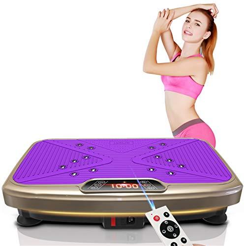 3D Vibrationsplatte VP300 | Fitness Vibrationstrainer | Magnetfeldmassage + Fernbedienung + Große Motoren | Fitnesstraining Von Zu Hause Aus, 330 Lb Maximale Belastung(Size:56 * 35 * 13.5CM,Color:02)
