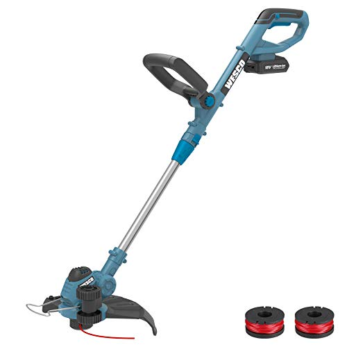 Cordless Grass Trimmer, WESCO 2 in 1 Electric String Trimmer/Edger 18V with...