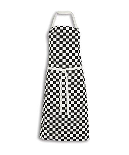 Alexandra stc-sh736bw-r Big Check Kochschürze, 100% Baumwolle, eine Größe, schwarz/weiß