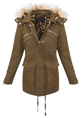 Rock Creek dames winter jas Parka mantel teddy voering capuchon D-230