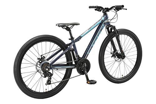 BIKESTAR Hardtail Aluminium Mountainbike Shimano 21 Gang Schaltung, Scheibenbremse 26 Zoll Reifen | 13 Zoll Rahmen Alu MTB | Blau