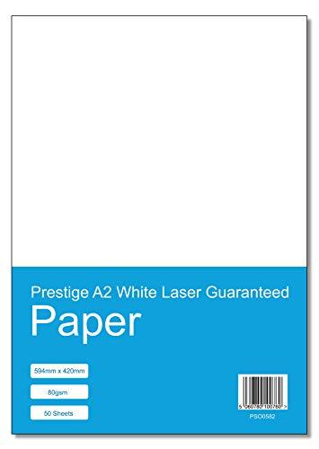 Prestige A2 White Laser Guaranteed Paper 80gsm - 50 Sheets