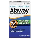 Bausch & Lomb Alaway Eye Itch Relief Antihistamine Eye Drops 0.34 oz. (Quantity of 3)