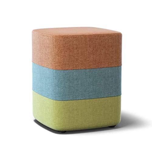 HGMMY Taburete de Esponja, Tela, Transpirable, para habitación o sofá, para niños, Adultos, Lectura de taburetes pequeños para niños, Asiento pequeño (Color: Naranja, tamaño: 33 35 cm)