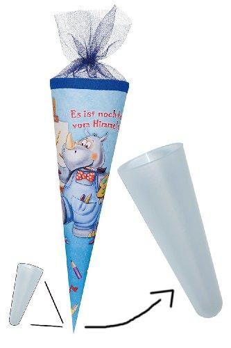 alles-meine.de GmbH stabile Spitze für die Schultüte - aus Kunststoff - für die fertige Zuckertüte oder Bastelset´s - RUND - Schulanfang Schultütenspitze - Kunststoffspitze
