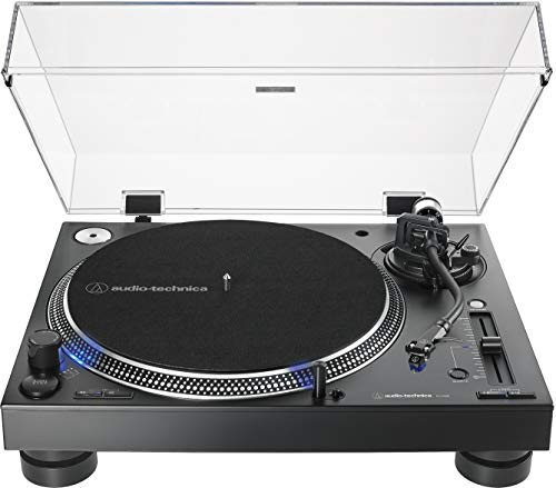Audio-Technica AT-LP140XP-BK Direct-Drive Professional DJ Turntable, Black, Hi-Fi, Fully Manual, 3 Speed, High Torque Motor