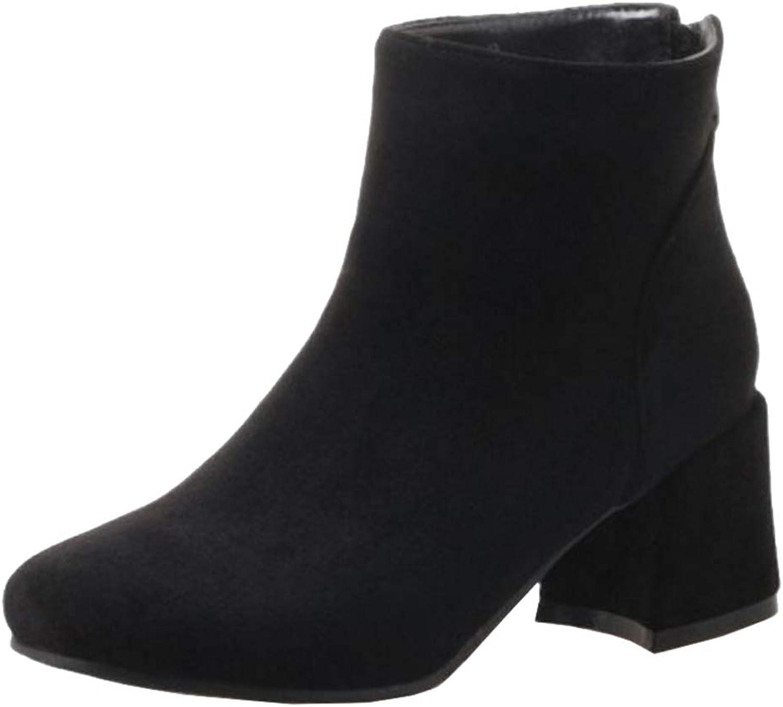 CuteFlats Women Ankle Chelsea Boots Black