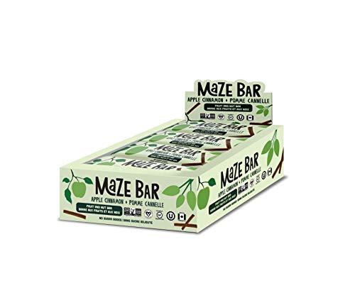 Apple Cinnamon Fruit & Nut Energy Bars Made in Canada - Non-GMO, Vegan, Gluten Free and Kosher (45g Bars, case of 12)