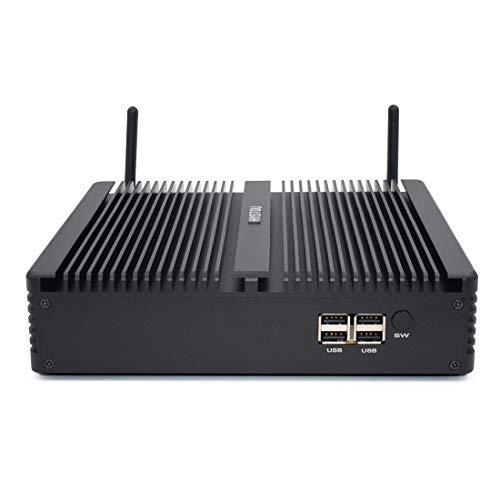JSANSUI Mini PC H5-I7-8550U huishouden kantoor Fanless Mini PC Intel Core i7-8550U processor Quad Core, ondersteuning Win 7/8/10 / Linux (zwart), zwart