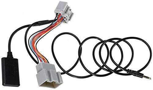 xiegons0 Coche Bluetooth Adaptador para Audio Cable Auxiliar para Volvo C30/S40/V40/V50 /S60/S70/C70 14-Pin Adaptador de Bluetooth - Negro + Gris, Free Size