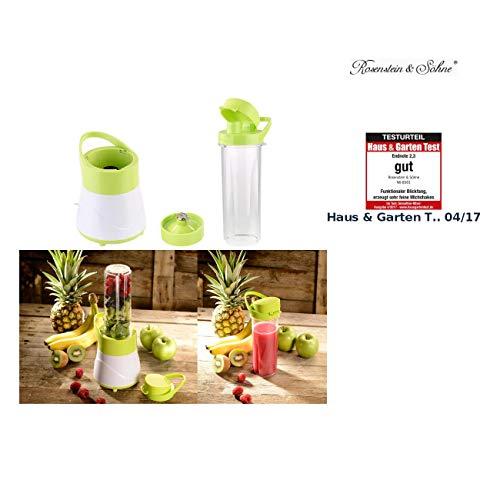 Rosenstein & Söhne Shaker: 2in1-Smoothie- & Standmixer mit Trinkbecher, BPA-frei, 500 ml, 400 W (Mischer)