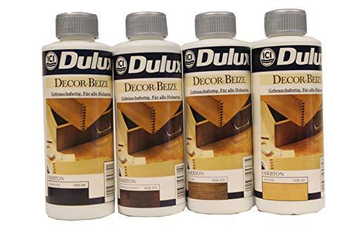6 x 250 ml Dulux Decor Beize Farbwahl 1,5 l, Farbe:Kiefer