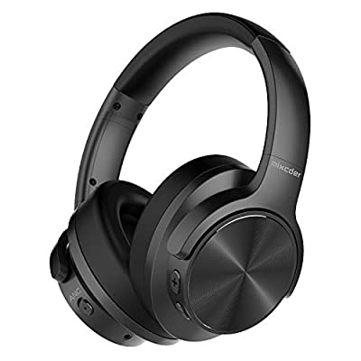 Mixcder E9 Wireless Active Noise Cancelling Headphones Foldable Headset (Quick Charge, Dual 40mm Drivers, Bluetooth 5.0 CSR, Comfortable Protein Earpads, 35 Hours Battery Life)