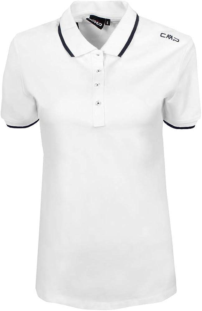 CMP Piquet Polo Shirt in 95/% Cotton T-Shirt Femme