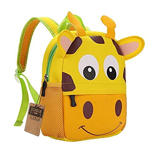 Children's Backpack, TEAMEN® Toddler Kids School Bag, Animal Design, Kinder Racksack for 2-8 Years Old(Giraffe)