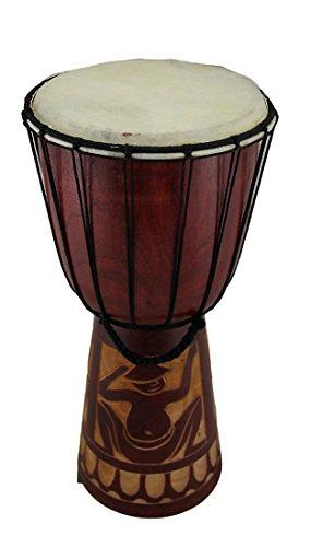 15en. Madera de caoba acabado madera tallada a mano círculo tambor...