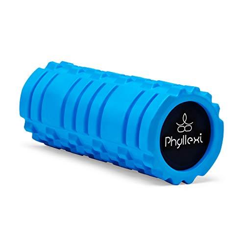 PHYLLEXI Faszienrolle Wirbelsäule Schaumstoffrolle Fitness - Foam Roller Gymnastikrolle, Massagerolle für Muskeln Tiefes Gewebe mit Trainingsanleitung Inklusive