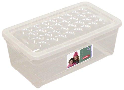 CURVER | Boite à chaussures 5.7L, Transparent, Textile Box, 34x19,3x11,5 cm