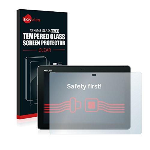 Savvies Panzerglas kompatibel mit Asus ZenPad 10 Z300CG - Echt-Glas, 9H Härte, Anti-Fingerprint