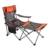 UMI. by Amazon - Folding Camp Chair Beach Chair Sun Chair Lounger Heavy Duty Camping Chair with Carry Bag
