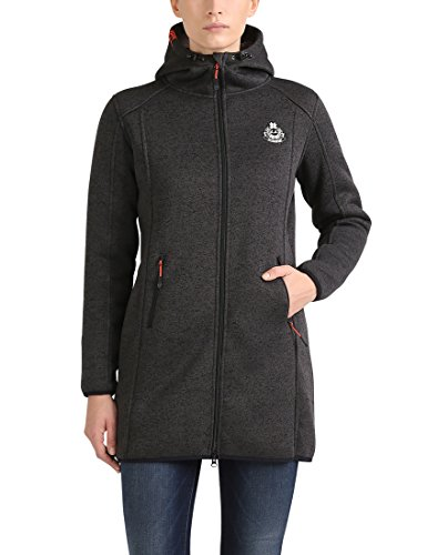 Ultrasport Damen Teddy Strickfleece-Jacke, Grau, S
