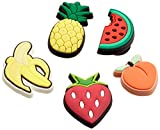 Crocs Fruit 5 Pack Charm decorativi, Jibbitz, Multicolore, Taglia Unica
