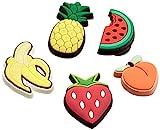 Crocs Fruit 5 Pack Decoración de zapatos, Jibbitz, Niños, Multicolor, Talla Única