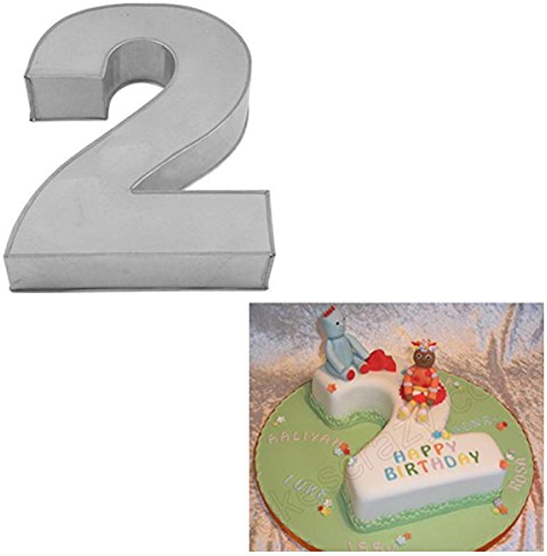 Large Number Two Birthday Wedding Anniversary Cake Tins Pans Mold Mould By Hufsy 14 X 10 X 3 Deep