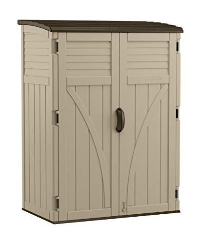 Suncast 54 Cubic Ft. Vertical Resin Outdoor Storage Shed, Sand -  BMS5700