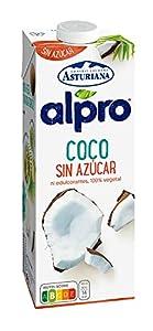 Alpro Central Lechera Asturiana - Bebida de Coco, Sin Azúcar, Sin Edulcorantes, 100% Vegetal, Apta para Veganos, Brik de 1 litro - 1 x 1000ml