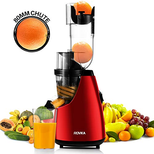 ROVKA Slow Masticating Juicer Extractor, 3.15 Inches Wide Chute Cold Press Juicer for Easy Juice and Clean, High Juice Yield for Fruit and Vegetable