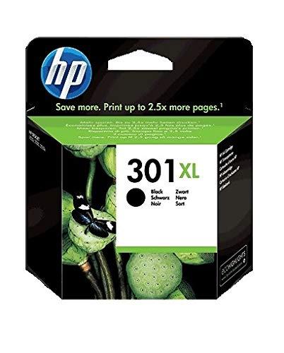 HP 301XL CH563EE, Cartucho de Tinta Original de alto rendimiento, negro, compatible con impresoras de inyección de tinta HP DeskJet 1050, 2540, 3050;OfficeJet 2620,4630;ENVY 4500,5530