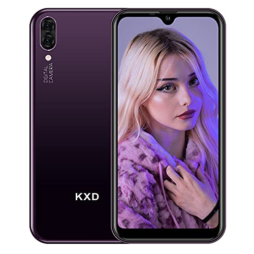 Teléfono Móvil Libres Android Smartphone Libre Baratos Dual SIM KXD A1 Pantalla 5,71' IPS Water-Drop Screen Movil 16GB ROM (128GB Ampliable SD), Mora