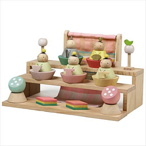 雛人形 プーカのひな人形 Puca HINANINGYO 積み木 ミニ雛人形 五人飾り 徳永こいのぼり