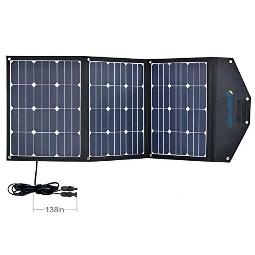 ACOPOWER 120W Portable Solar Panel 3x40W Foldable Suitcase