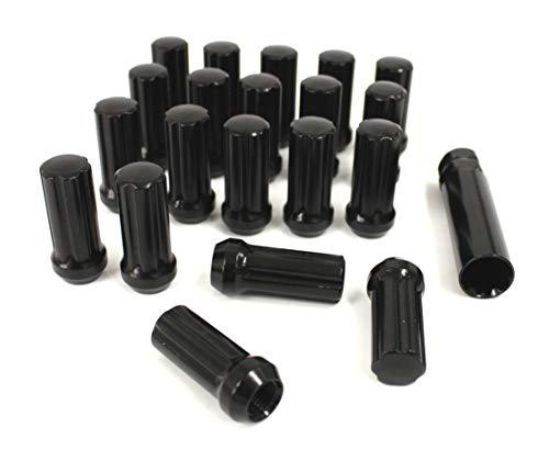 Radmutternschloß Kit Black 20 spezial Radmuttern + Schlüßel Gewindetyp 14x1,5 RAM 12-18 Felgenschloß