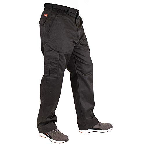 Lee Cooper Herren Cargo Trouser Hose, Black, 36W/31L (Regular)