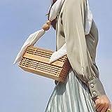 Bolso de bambú Boho Bolso bandolera hecho a mano con correa para el hombro, Bolso de playa de verano Bolso de mensajero para mujer para mujeres y niñas para diversas ocasiones como compras,