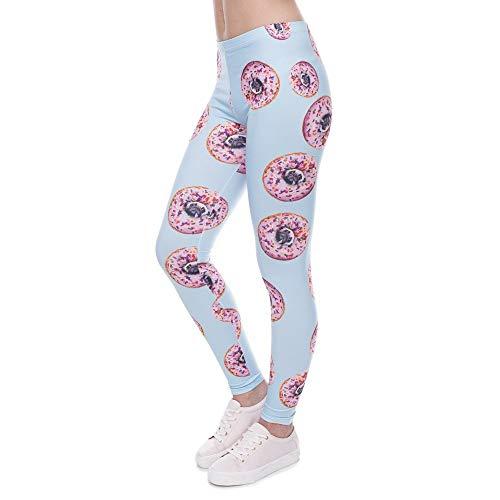 Yoga Hosen Neue Leggings Ankunft Frauen Hosen Donuts Mit Pugs Unikat Style Drucken Legging Blau Leggins Hohe Elastizitäglich T Legins...