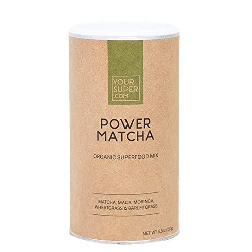 Your Super Power Matcha Superfood Mix - Plant Based Focus and Energy Blend, Green Tea Powder, Natural Caffeine, Antioxidants & Essential Vitamins, Non-GMO, Organic Maca (30 Servings, 5.3 oz)
