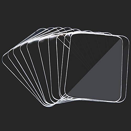 Wasbare NanoTape-plakband, herbruikbaar siliconenplakband, vrij te verwijderen, herbruikbaar, met glas, metaal, keukenmeubels of tegels (20 stuks)