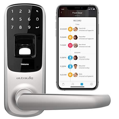 Ultraloq UL3 BT Cerradura sin llave inteligente Bluetooth y Pantalla Táctil, Plata