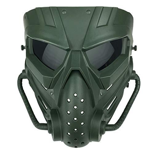 Kviklo Party Komponenten Gefälschte Gesicht Kostüm Halloween Cosplay Gesichtsteil für Jagd, CS Combating, Kriegsspiel(C5)