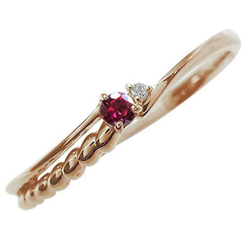 [プレジュール]ルビー リング 華奢 シルバー アクセサリー レディース 誕生石 指輪 ピンキーリング