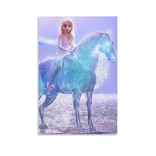 NUOMANAN Lienzo decorativo para pared, diseño de princesa de la nieve de Frozen Fantasy Adventure of the Snow (20 x 30 cm), diseño de película para decoración del hogar, sin marco