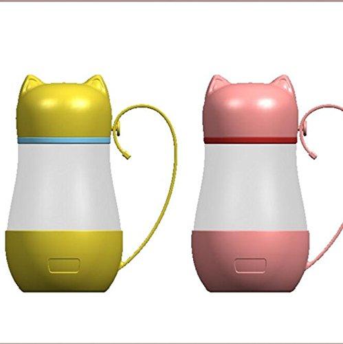 Creative Cute Cartoon Cat Head Glass Étudiant Enfants Cup Publicité Petits Cadeaux (Color : Green)