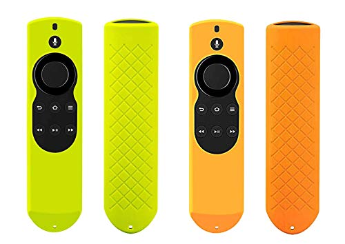 Symotop - Funda protectora de silicona para mando a distancia de Fir TV y Fir TV Stick (1ª generación), compatible con Alexa Voice...
